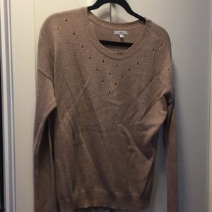 Gap tan sweater with cut outs